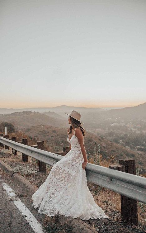 Alyx All Who wonder bridal studio aline boho lace