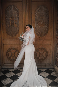 Janie wears 'Nelly' with custom sleeves  Beautiful wedding in the Philippines  Photography https://mango-red-studios.format.com/#3