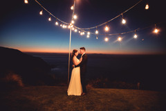 Victoria wears 'Lily' with a custom veil  Elise Creative Photography   Stunning venue and setting is Boomrock, Wellington