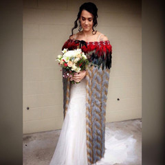 Renee wears 'Keria'   No words are needed for how absolutely stunning Renee looks her in very special family korowai