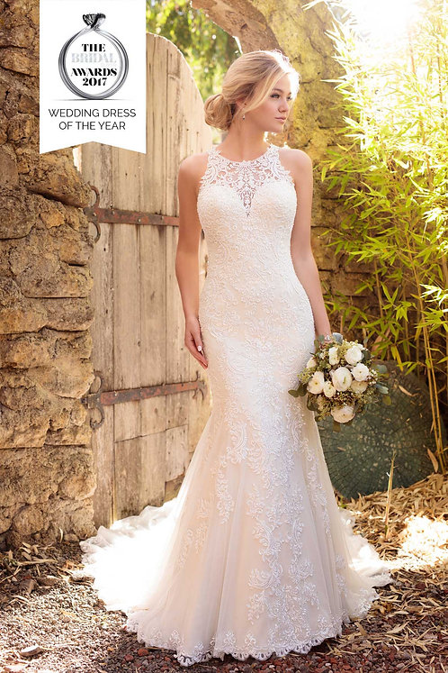 Reena, Bridal Studio, High neck, lace essense, fit and flare