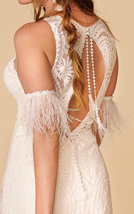 tarly arm cuff feathers bridal studio boho all who wonder