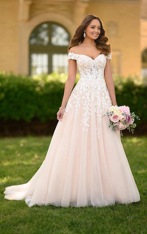 joelle stella york aline lace off the shoulder bridal studio