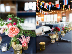 Navy, gold and pink wedding