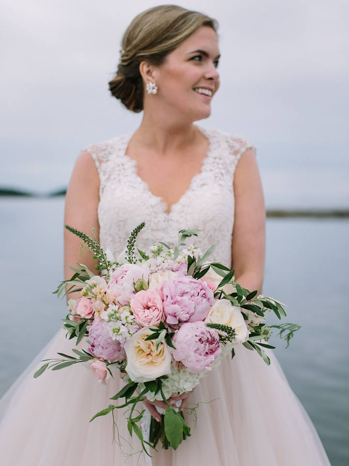 Pink peony bridal bouquet
