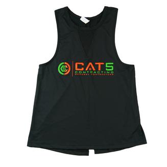 Cat 5 Contractor Ladies Muscle Tee - Front