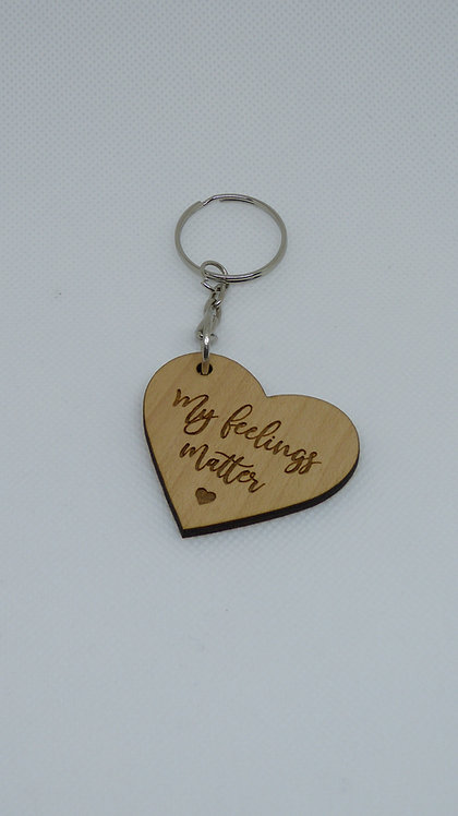 Keychain Heart: My Feelings Matter