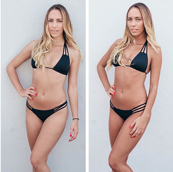 Aurora Organic Spray Tans before and after