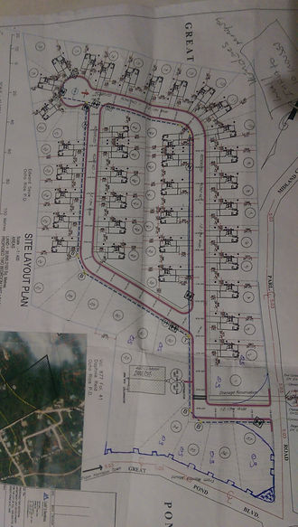 Site Plan- Great Pond Estate