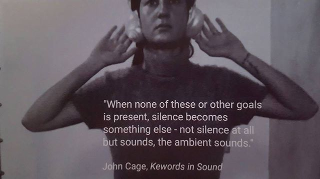 Listen 🎶🎶🎶 _kecyafelix work 2016 #johncage #soundhealing