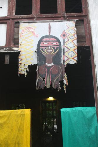 Maracana Village window flag