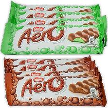 Nestle Aero Milk Chocolate and Peppermint Bar , 27 Gram Bars (Pack of 8)