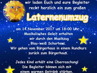 Laternenumzug findet am 14. November statt
