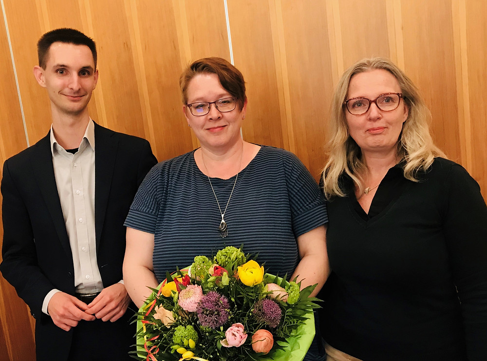 Maximilian Striegl, Fachberaterin Imke Janssen und Melanie Sudholz konnten zahlreiche Gäste begrüßen.
