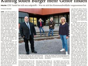 CDU unterstützt Bürgermeister Eiklenborg bei Wiederwahl