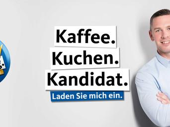 Kaffee. Kuchen. Kandidat.