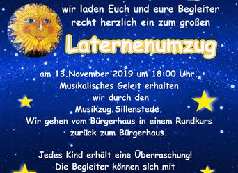 Laternenumzug zu St. Martin am 13. November vor dem Bürgerhaus