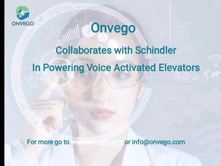 Onvego Provided No-touch Voice Solution For Schindler Elevators