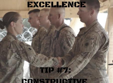 Pursuing Excellence Series Part 7: Constructive Evaluation
