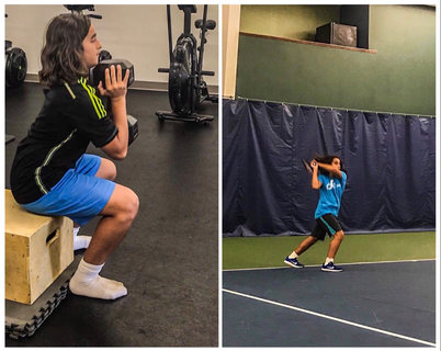 Diego trains for Tennis