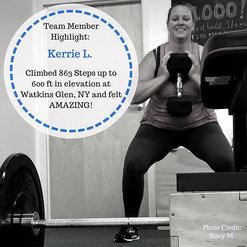Kerrie trains to climb mountains