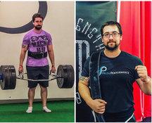 Zach trains for strength.