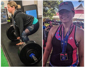 Stacy Trains for the Ironman.