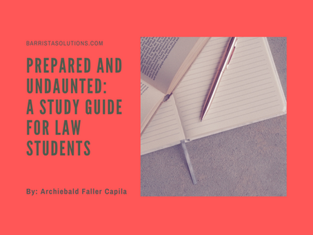 Prepared and Undaunted: A Study Guide for Law Students