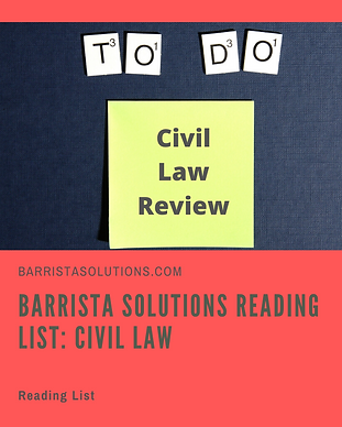 List of Materials to read for Civil Law Review