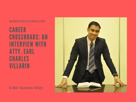 Career Crossroads- An Interview with Atty. Earl Charles Villarin