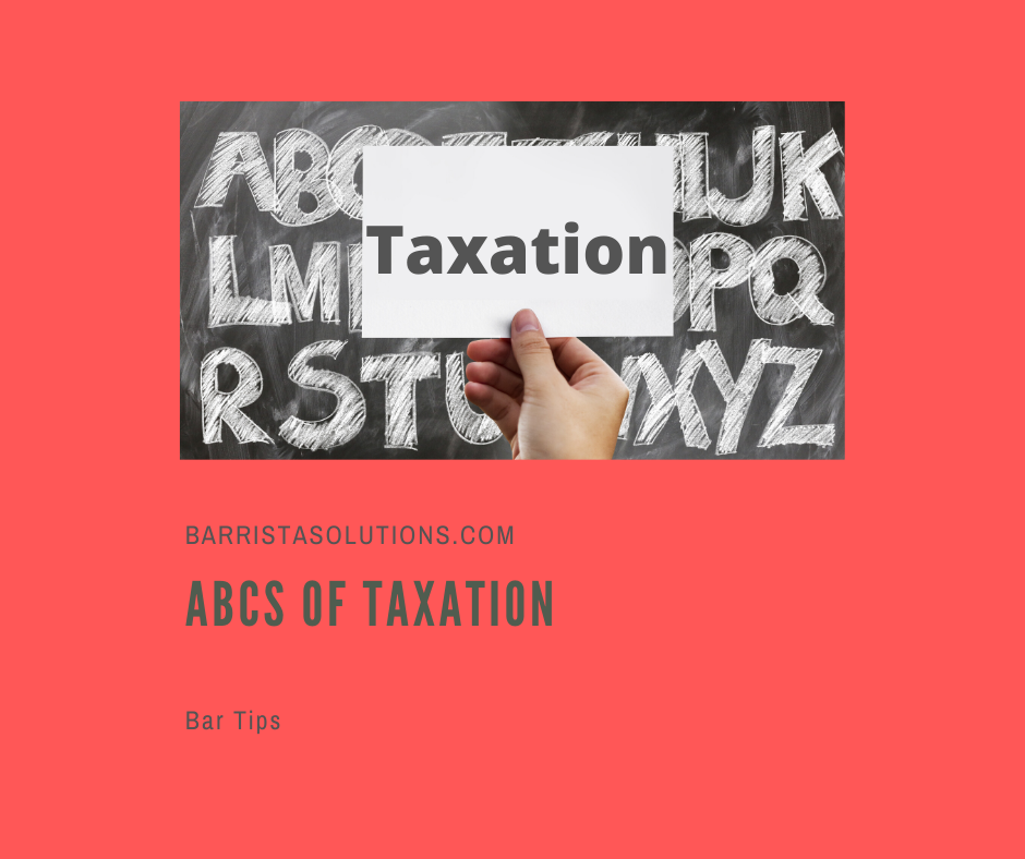 Barrista Solutions lists important terms and concepts in Taxation