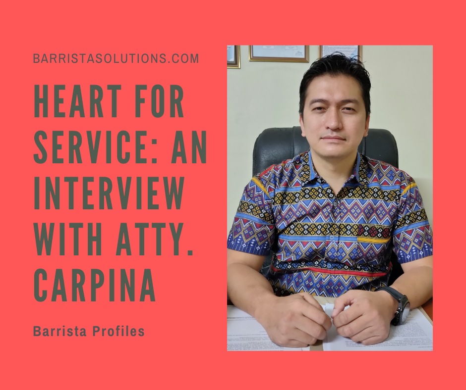 Atty. Daniel V. Carpina of DepEd Calabarzon shares his insights on public service and his advice to Law Students.