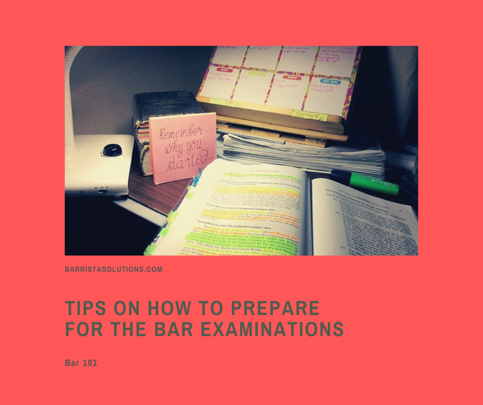 Barrista Solutions lists down some of the reminders for our candidates for this coming exam.