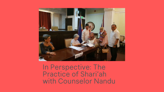 Counselor Nandu shares with Barrista Solutions her journey as a Shari' ah Lawyer.