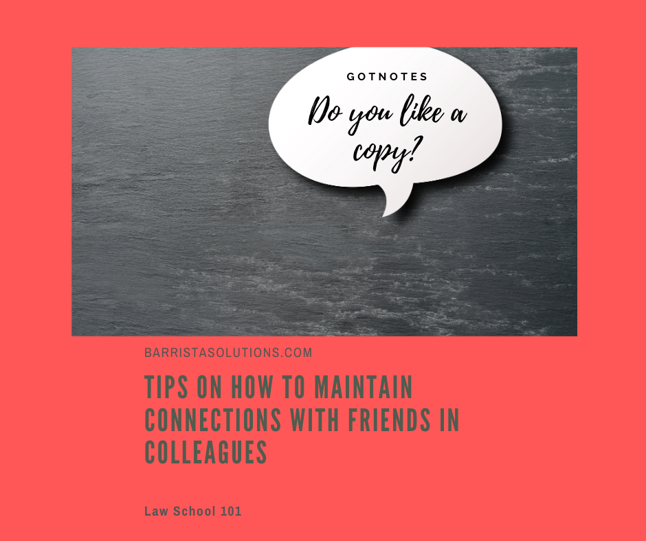 Our social life has never been the same from the onset of the pandemic. Law Students who are accustomed to studying at the library and coffee shops for their sanity has a void to fill. Barrista Solutions lists lips on how to maintain connections with friends during the pandemic.