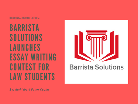 Barrista Solutions launches Essay Writing Contest for law students