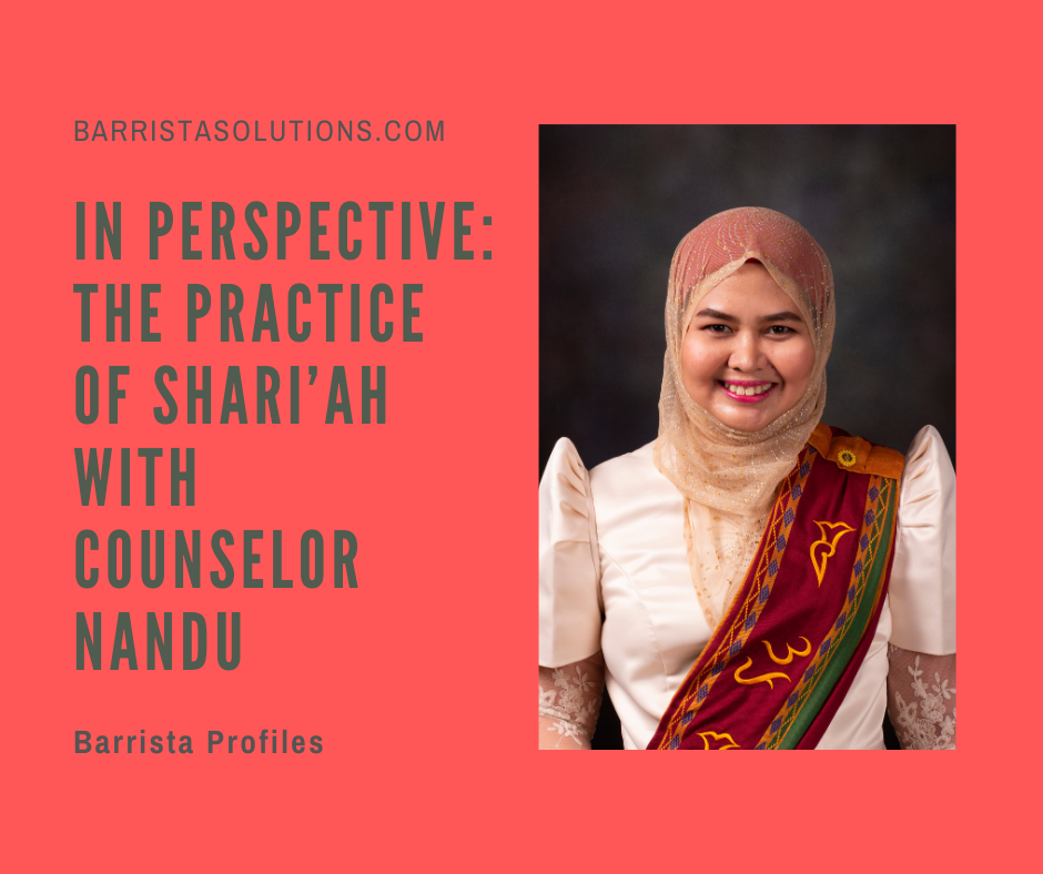 In the Philippines, Muslim Personal Laws are codified. Counselor Nandu gives Barrista Solutions insights on the practice of Shari'ah in the country.