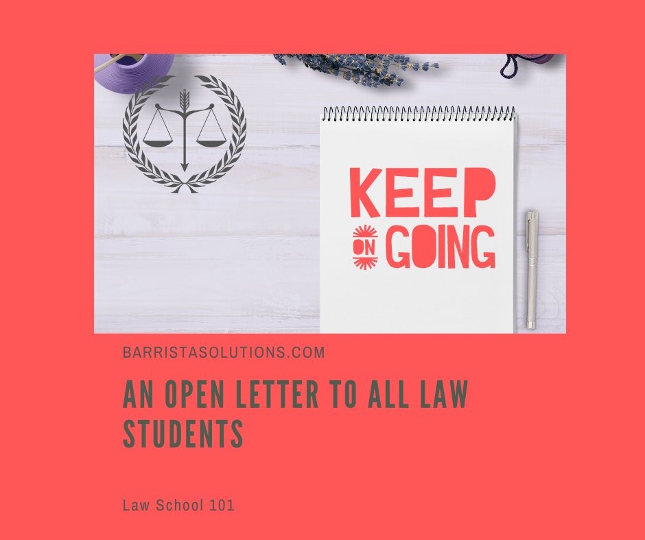 The Study of Law is challenging. However, law students must always remember to keep the faith.