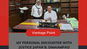 My Personal Encounter with Justice Japar B. Dimaampao