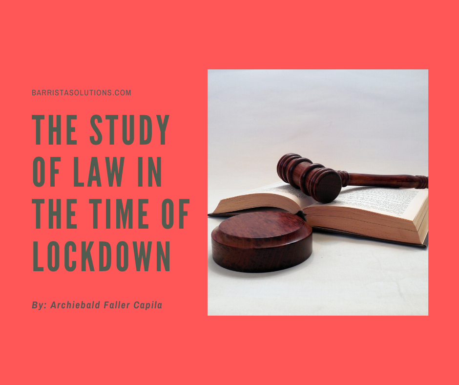 Archiebald Faller Capila, a Law Student in the Philippines, shares how it is like to study Law in the time of Lockdown.