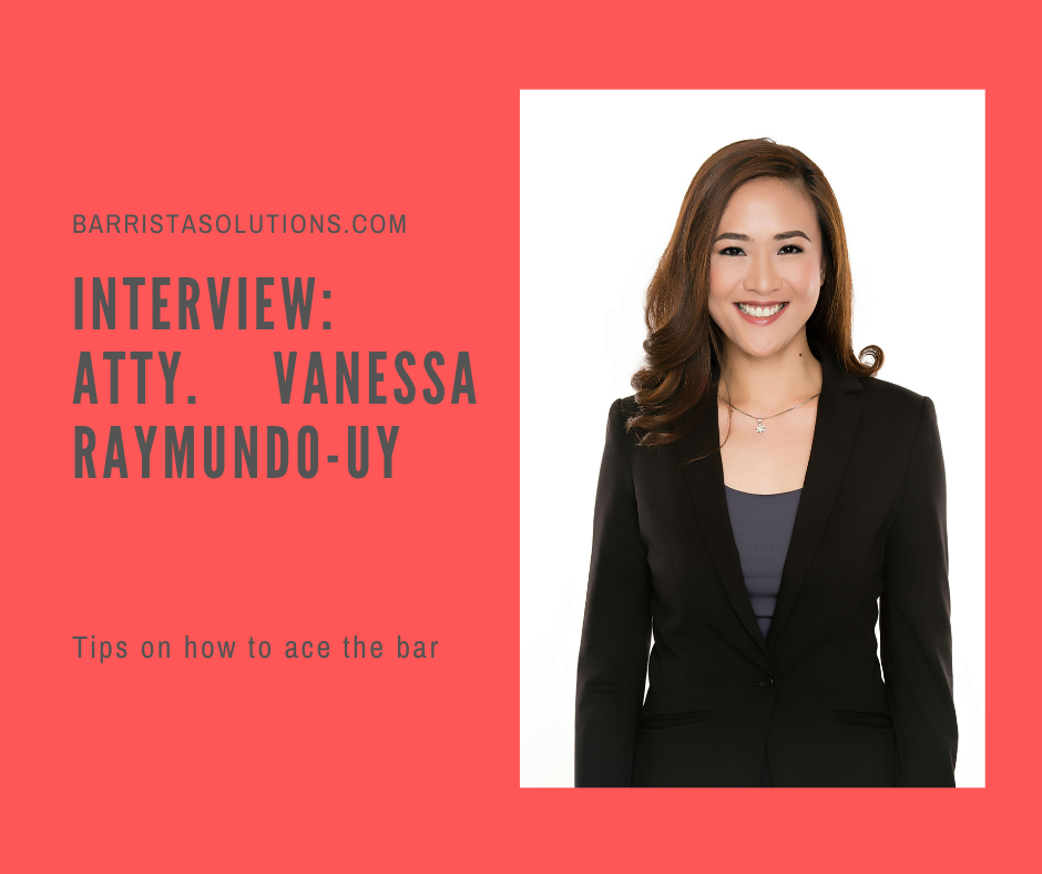 Atty. Vanessa Raymundo- Uy of GSE Law Firm shares tips and strategies on how to pass and top the Philippine Bar Exams.