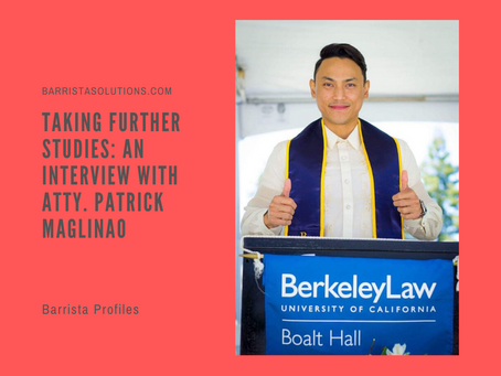 Pursuing Further Studies: An Interview with Atty. Patrick Maglinao
