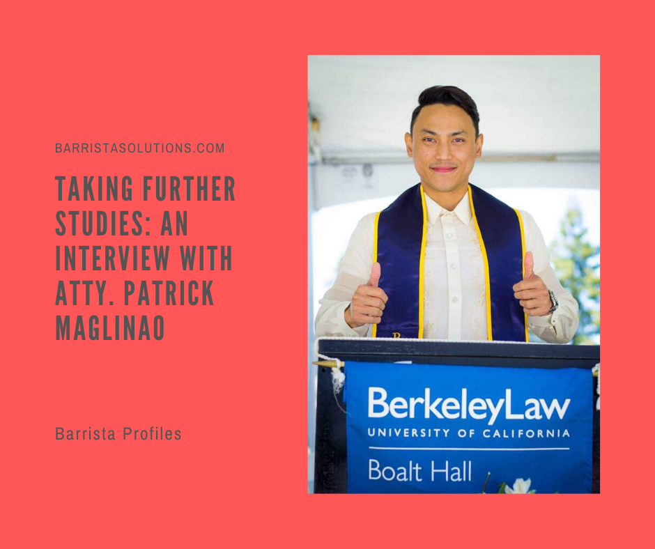 Filipino Lawyer who took Master in Laws at UC Berkeley
