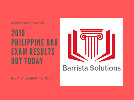 2019 Philippine Bar Exam results out today