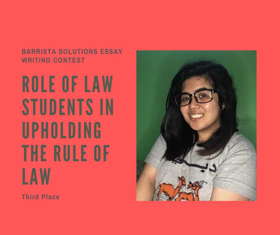 University of the Cordilleras College of Law wins 3rd Place in the Barrista Solutions Essay Writing Contest