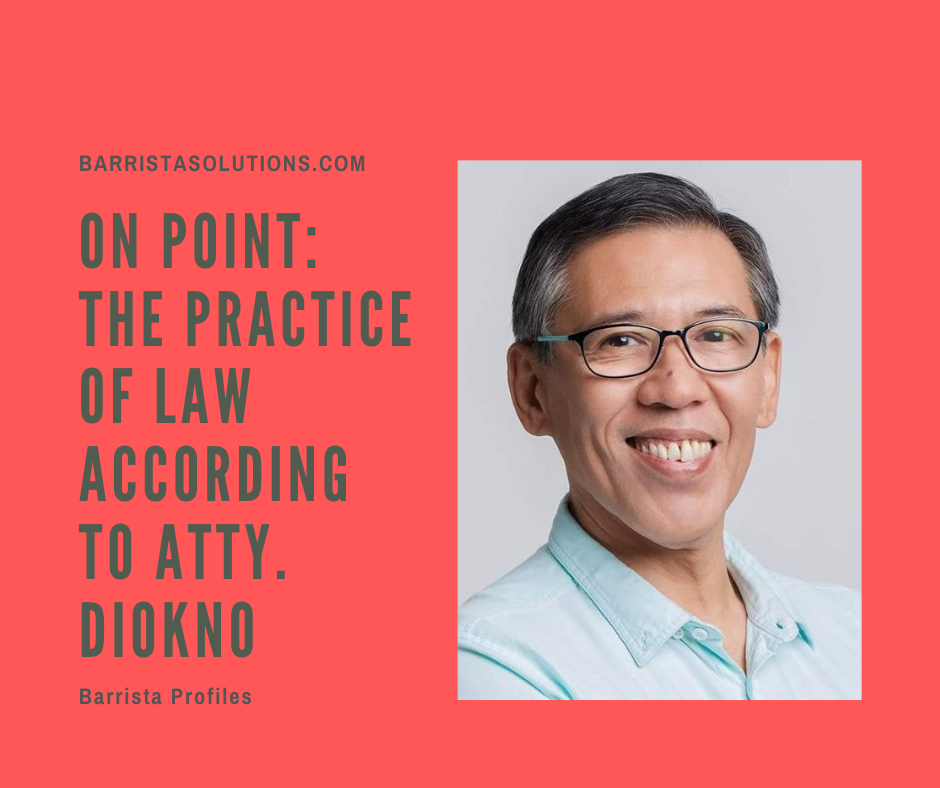 Atty. Chel Diokno, a human rights Lawyer in the Philippines speaks about the Practice of Law and the social responsibility of lawyers in the country.