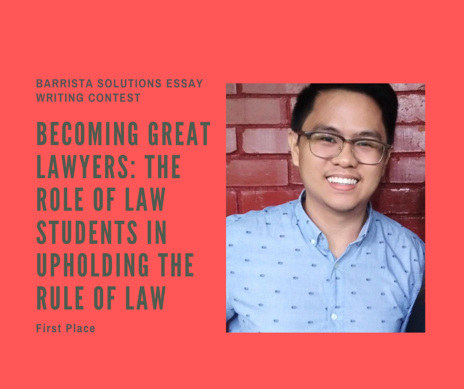 UP College of Law Students wins First Place in the First Barrista Solutions Essay Writing Contest