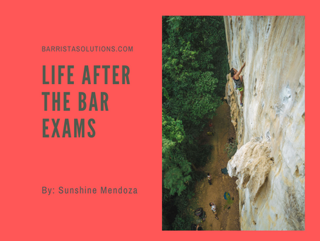 Life after the Bar Exams
