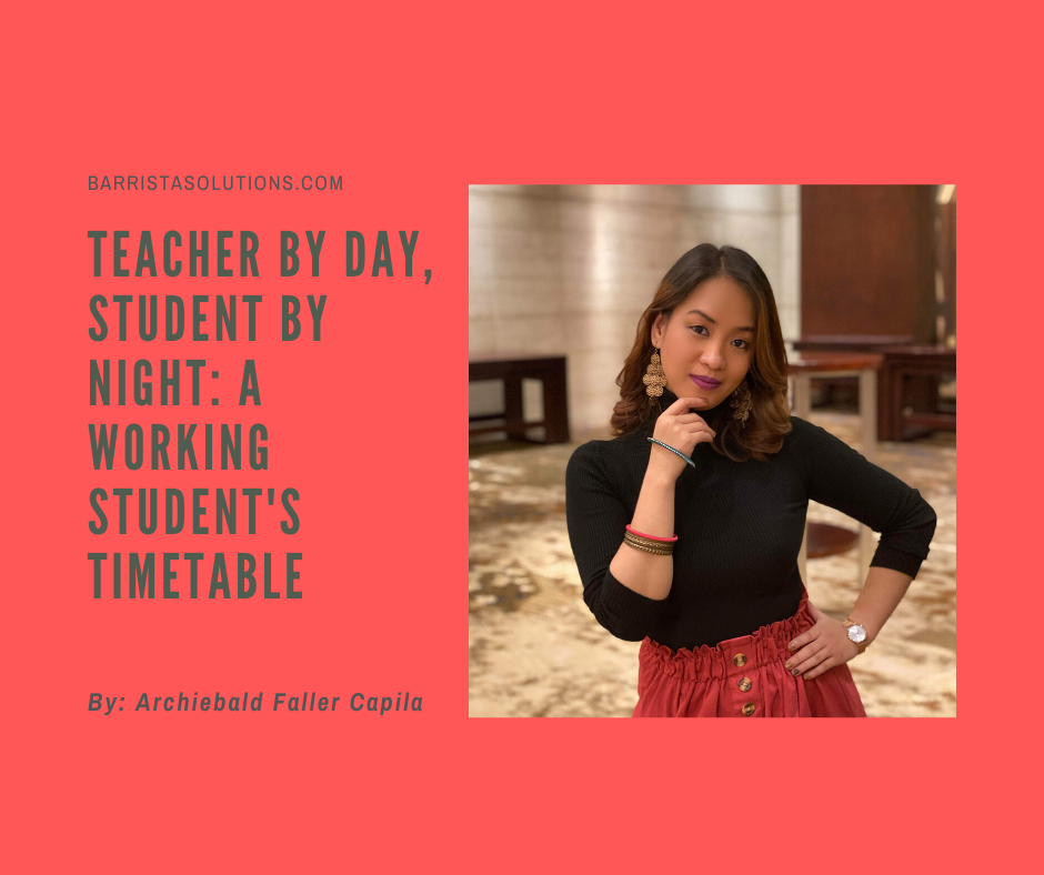 Edita Lara Lacsamana, a working Law Student at San Beda University shares how she prepares for her classes and for the Philippine Bar Exams while working as a Teacher.