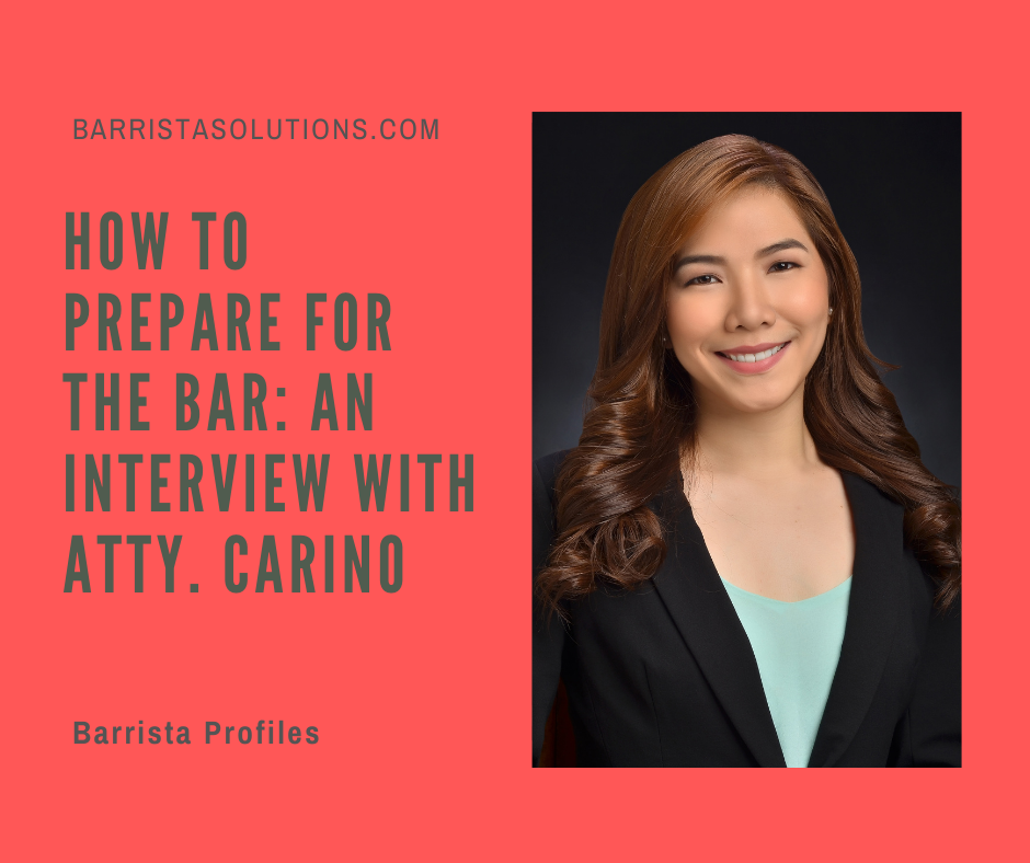 Atty. Lougenia Carino of San Beda College of Law shares how she aced the Philippine Bar Exams.